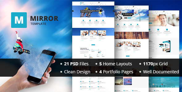 ThemeForest MIRROR Multipurpose Business PSD Template 6782959