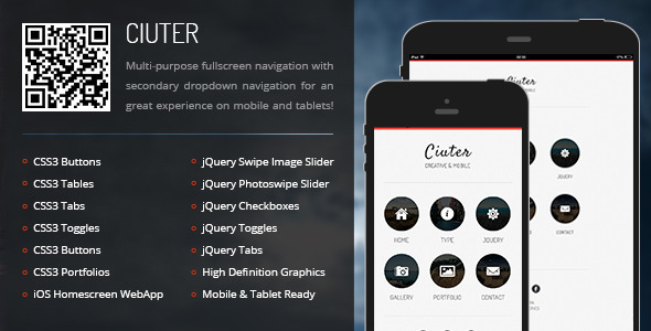 ThemeForest Ciuter Mobile & Tablet Responsive Template 6783352