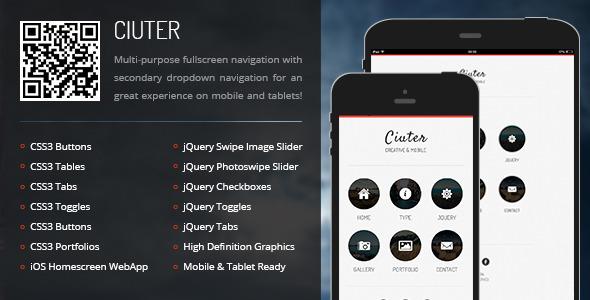 ThemeForest Ciuter Mobile & Tablet Responsive Template 6783352