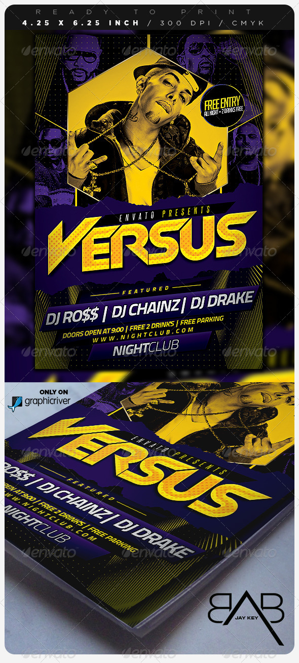 GraphicRiver Versus Hip Hop Party Flyer 6783353