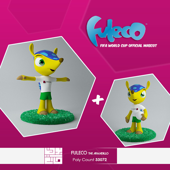 3DOcean Fuleco The Armadillo 3D Model 6783488