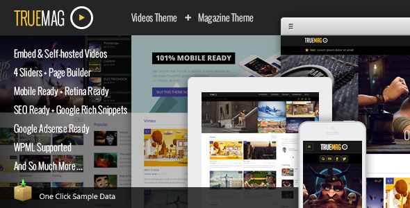 ThemeForest True Mag Wordpress Theme for Video and Magazine 6755267