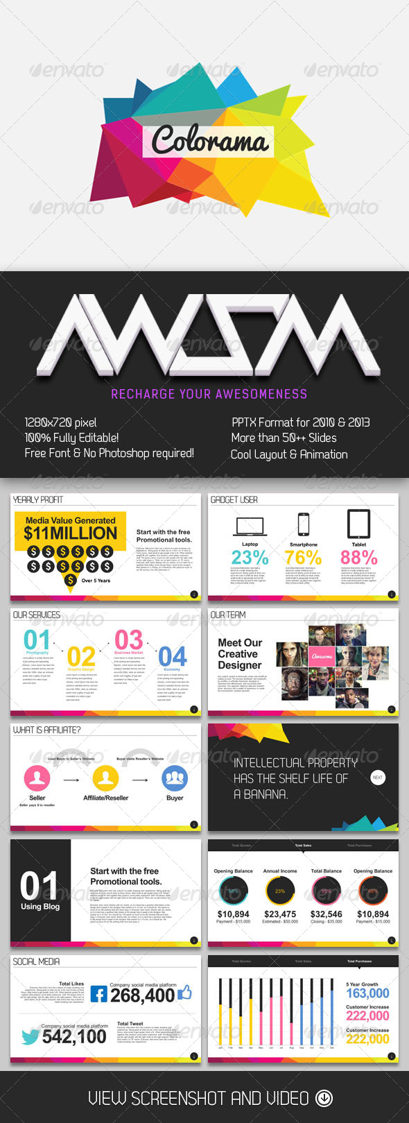 GraphicRiver Colorama Magazine PowerPoint 6783630