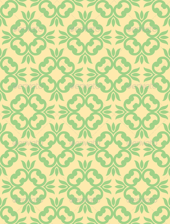 GraphicRiver Seamless Clover Damask Pattern 6783639