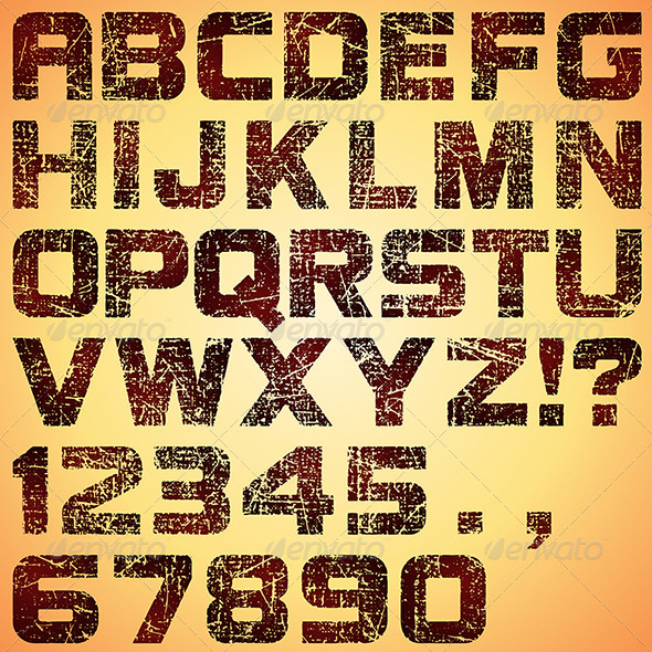 GraphicRiver Grunge Letters 6783647