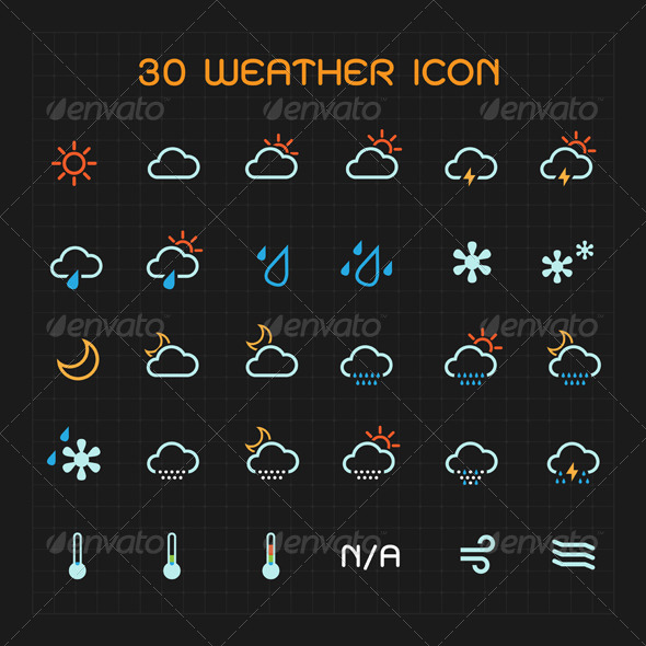 GraphicRiver Color Weather Icon Set 6784032