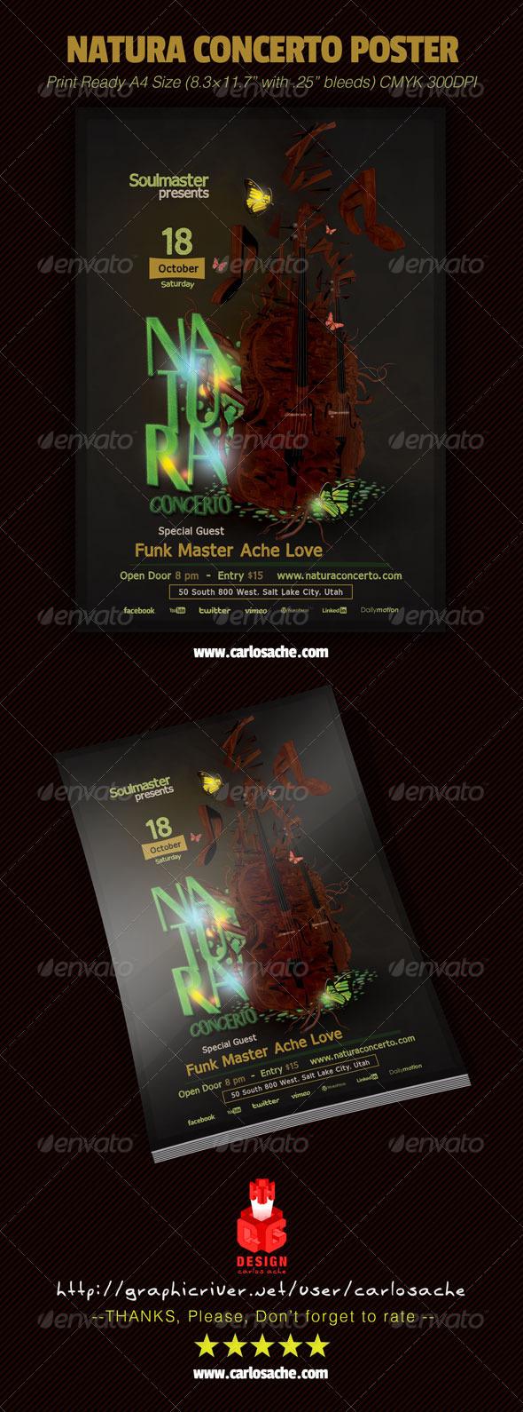 GraphicRiver Natura Concerto Poster 6784126