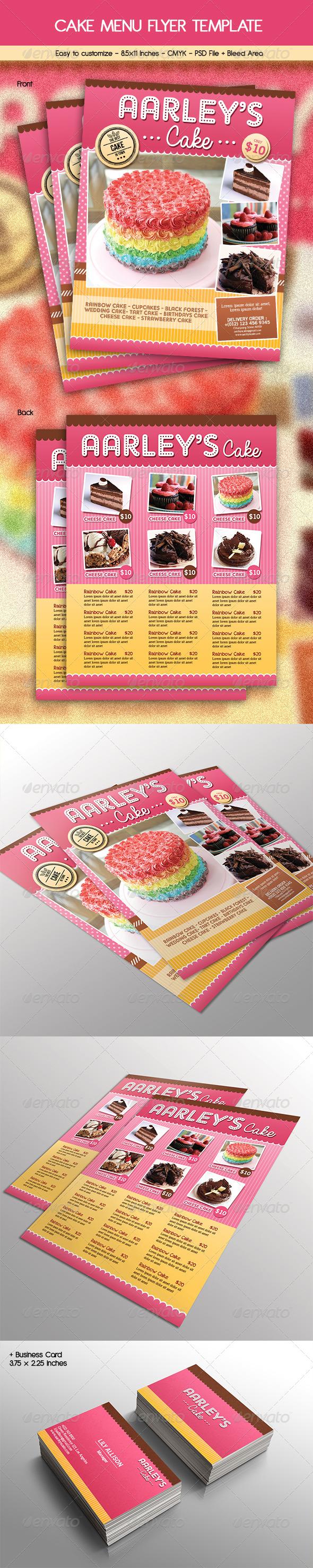 Cake Menu Flyer + Business Card
