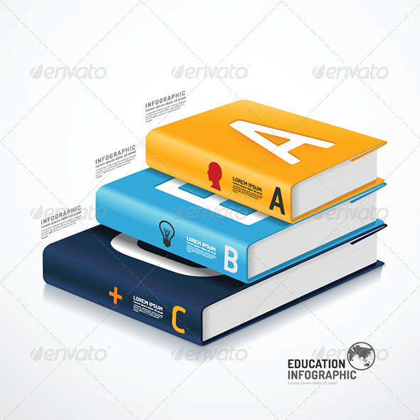 GraphicRiver Infographic Template Book Concept Illustration 6758304