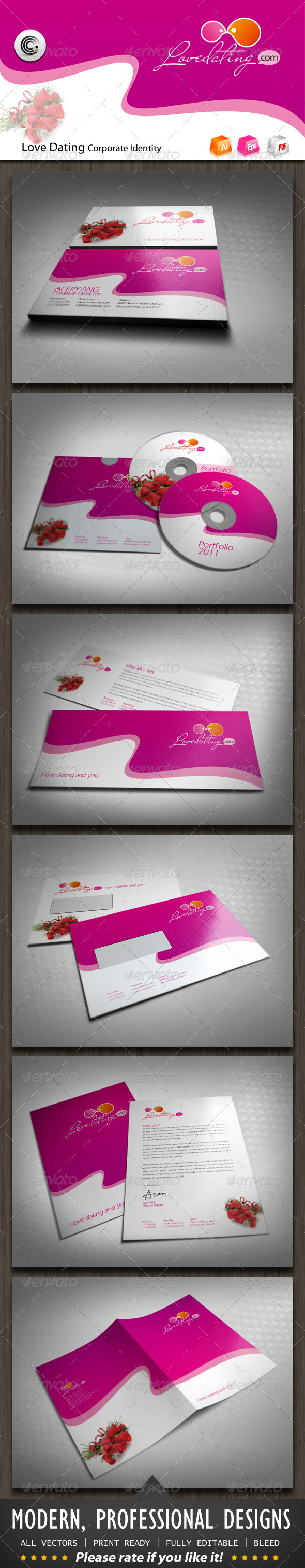 GraphicRiver Love Dating Corporate Identity 697368