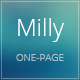 The Milly - One Page Template - ThemeForest Item for Sale