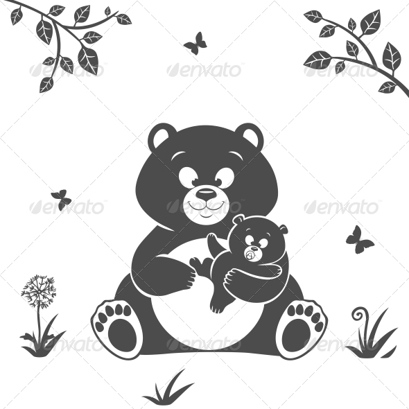 GraphicRiver Bear Silhouette 6784799
