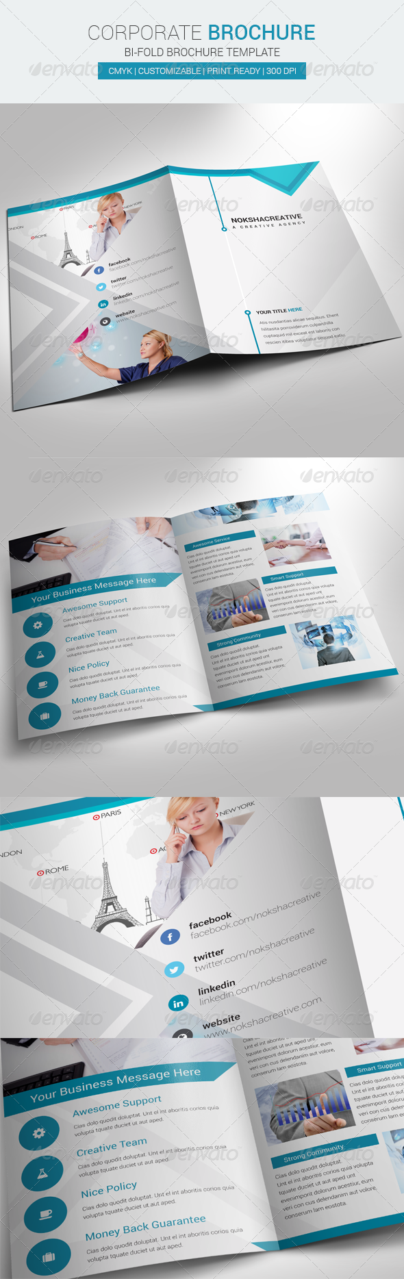 GraphicRiver Bi Fold Brochure Corporate 6785348