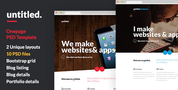 ThemeForest Untitled Onepage Parallax PSD Template 6785410