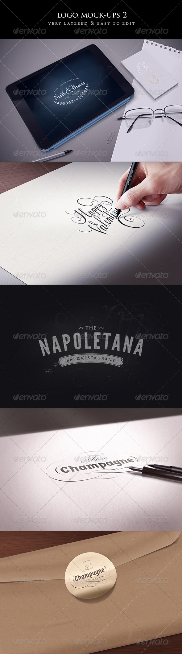 GraphicRiver Logo Mock-Ups set 2 6785693