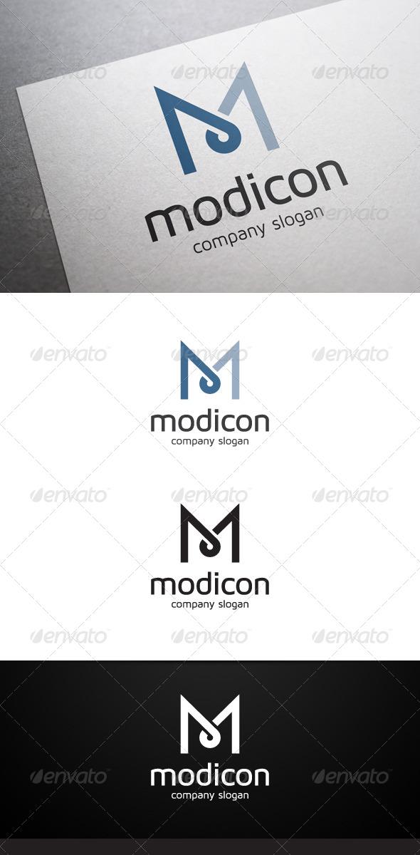 GraphicRiver Modicon M Letter Logo 6785700