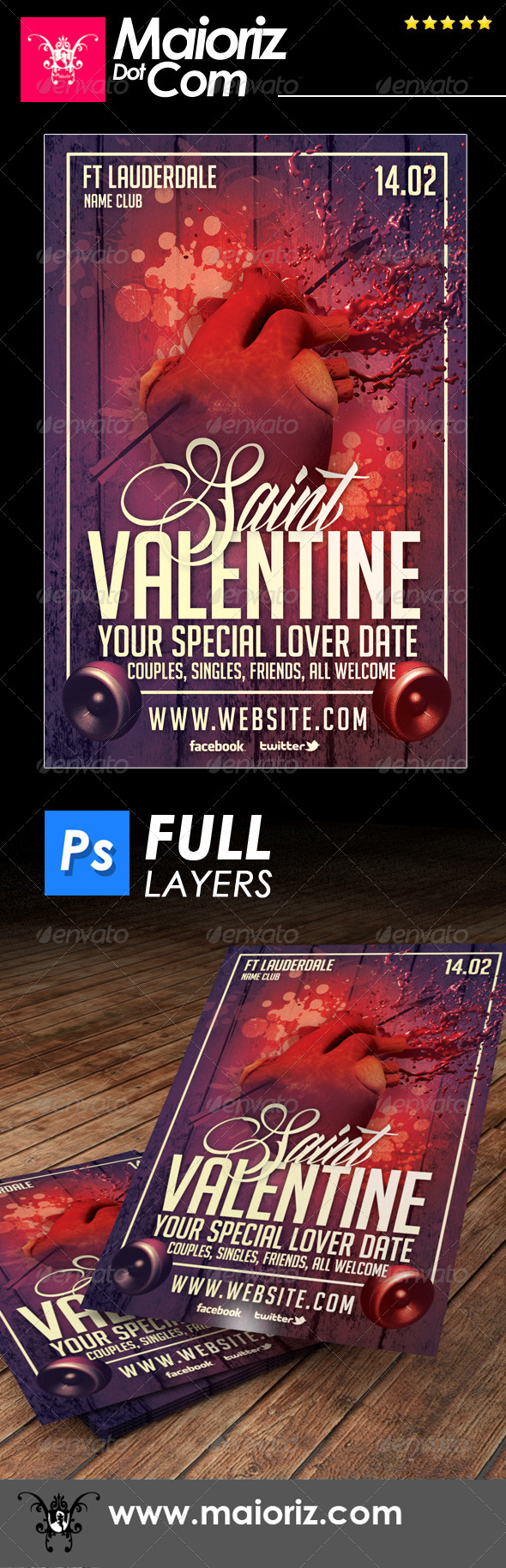 GraphicRiver Saint Valentines Flyer Holiday 6785735