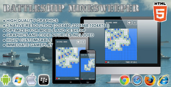CodeCanyon Battleship Minesweeper HTML5 Game 6785968
