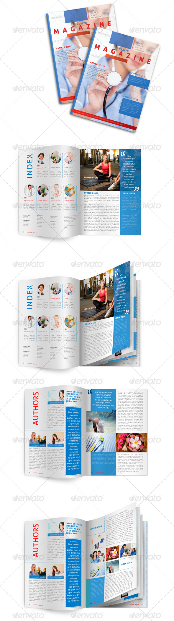 GraphicRiver Medical Magazine Template 6779942
