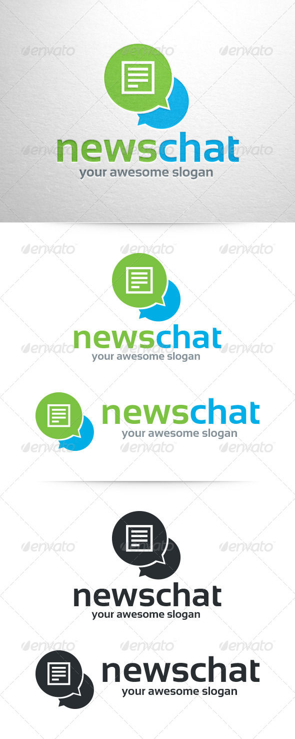 GraphicRiver News Chat Logo Template 6786210