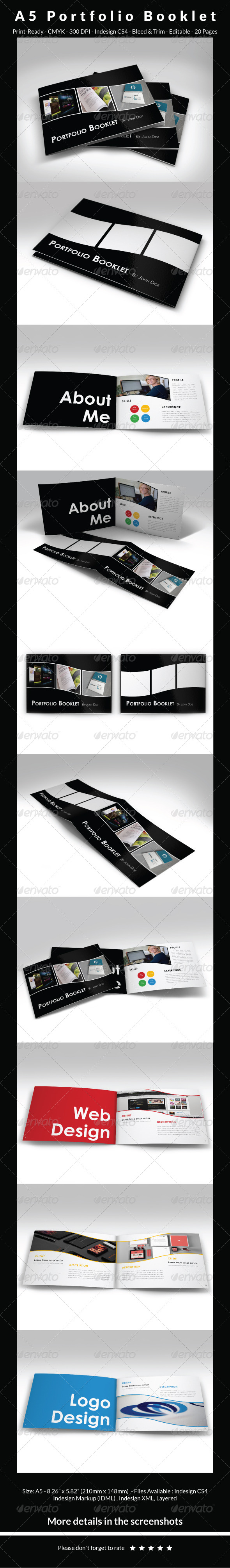 GraphicRiver A5 Portfolio Booklet 6786358