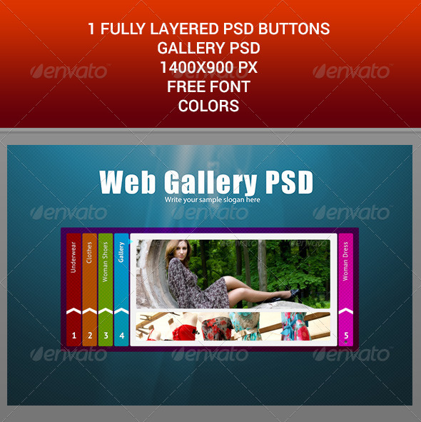 GraphicRiver WEB BUTTONS GALLERY PSD TEMPLATE 6702125
