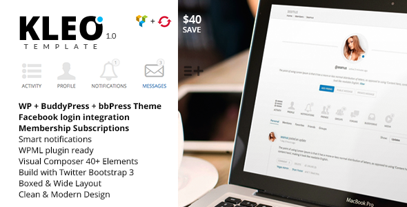 KLEO – Next level Premium WordPress Theme - BuddyPress WordPress