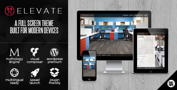Elevate: A Full Screen Theme for WordPress