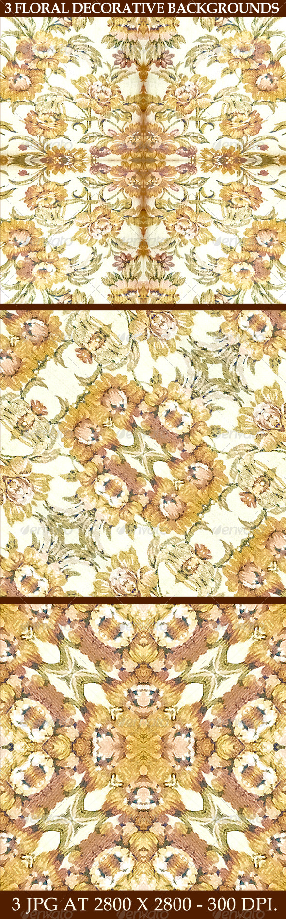 GraphicRiver 3 Floral Decorative Background Patterns 6786571