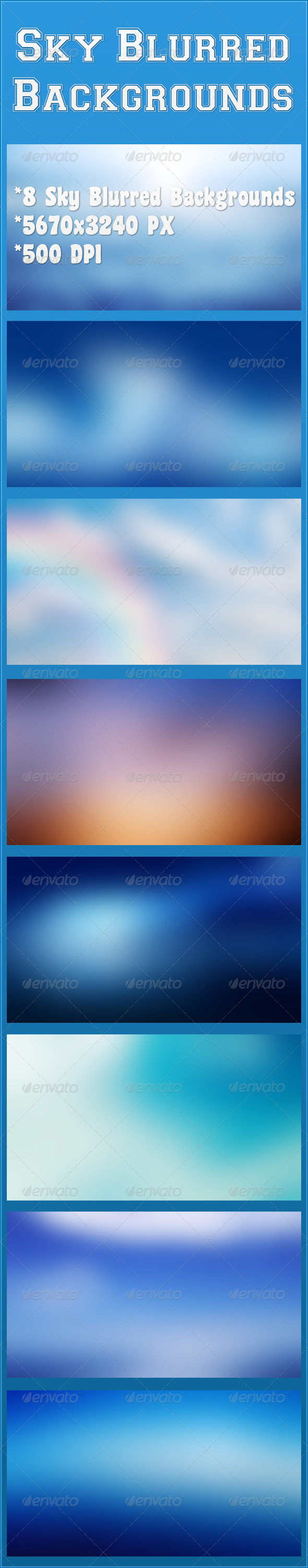 GraphicRiver Sky Blurred Backgrounds 6784406