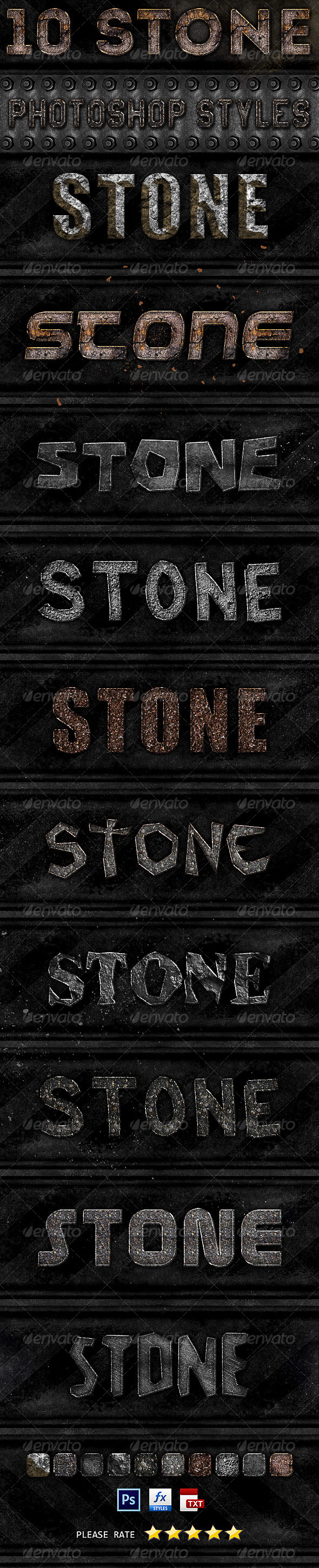 GraphicRiver 10 Stone Photoshop Styles 6786622