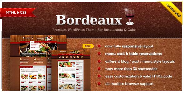 Bordeaux - Premium Restaurant HTML Template