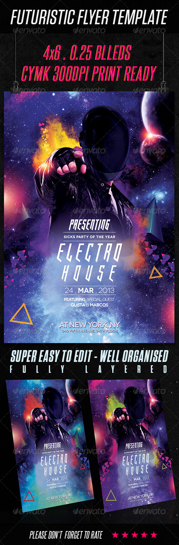 GraphicRiver Futuristic Flyer Template 6786829