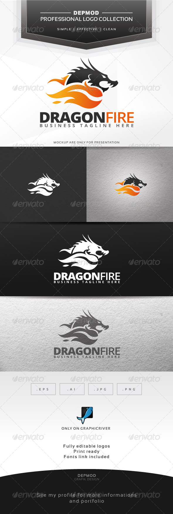 GraphicRiver Dragon Fire Logo 6786953