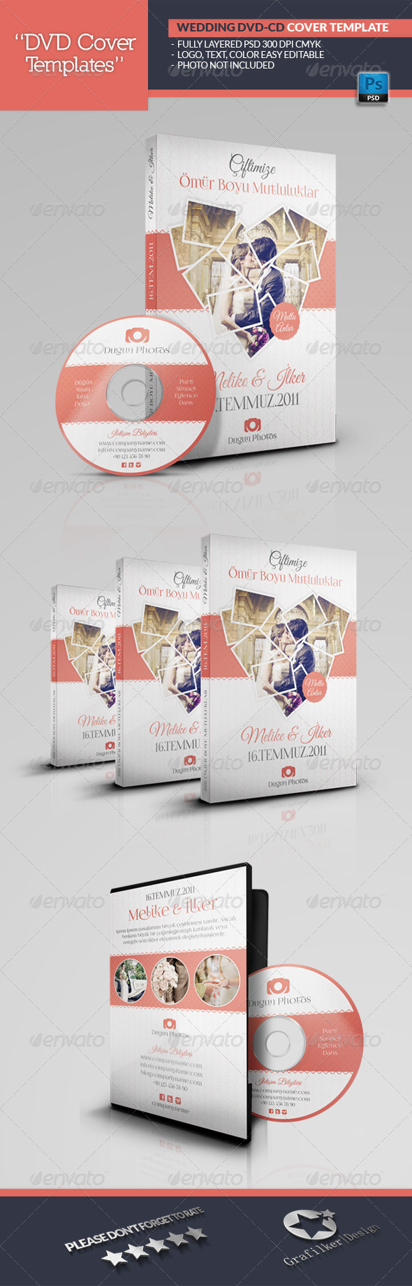 GraphicRiver Wedding Dvd Cover Templates 6787032