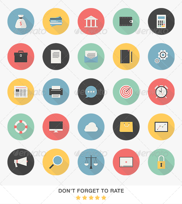 GraphicRiver Business Icons Set 6787271