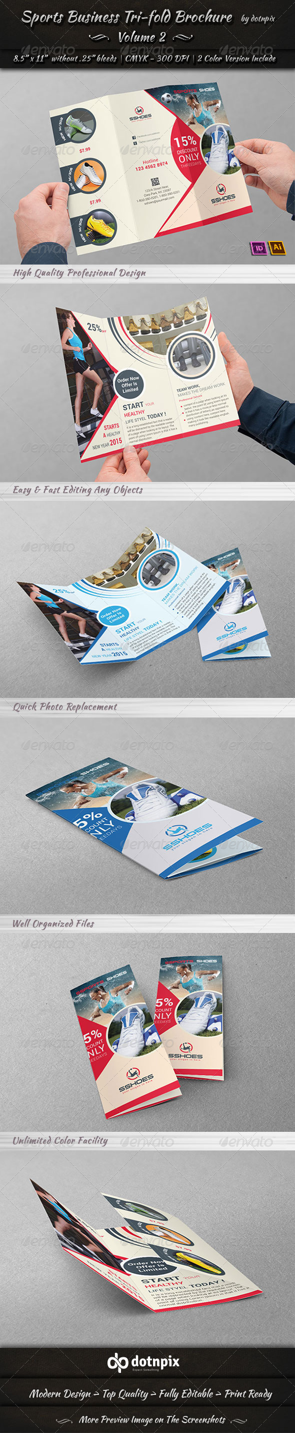 GraphicRiver Sports Business TriFold Brochure Volume 2 6787680