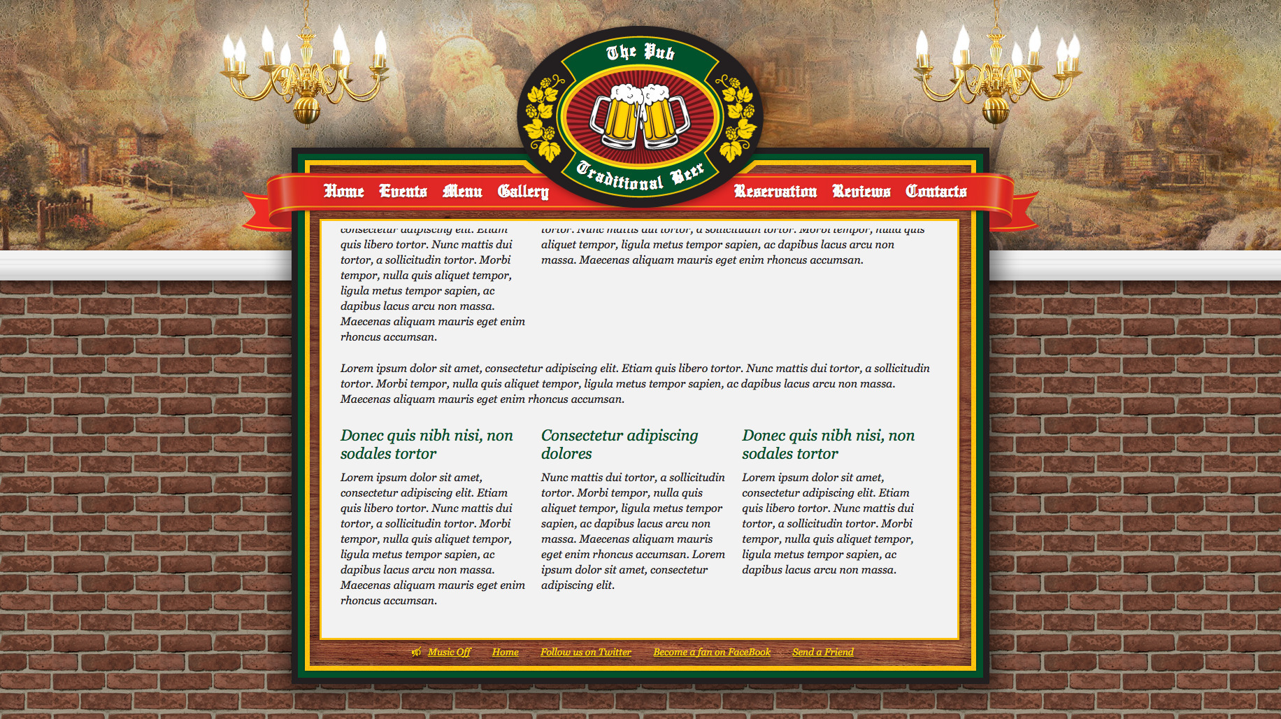 The Pub Traditional Beer - Theme