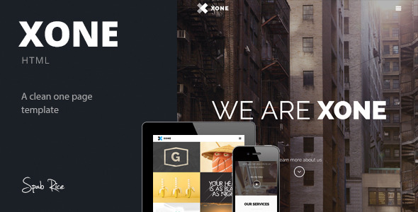 ThemeForest Xone Clean One Page Template 6770367