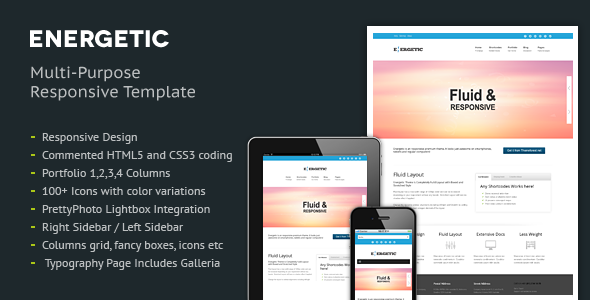 Energetic - Responsive HTML5 Template