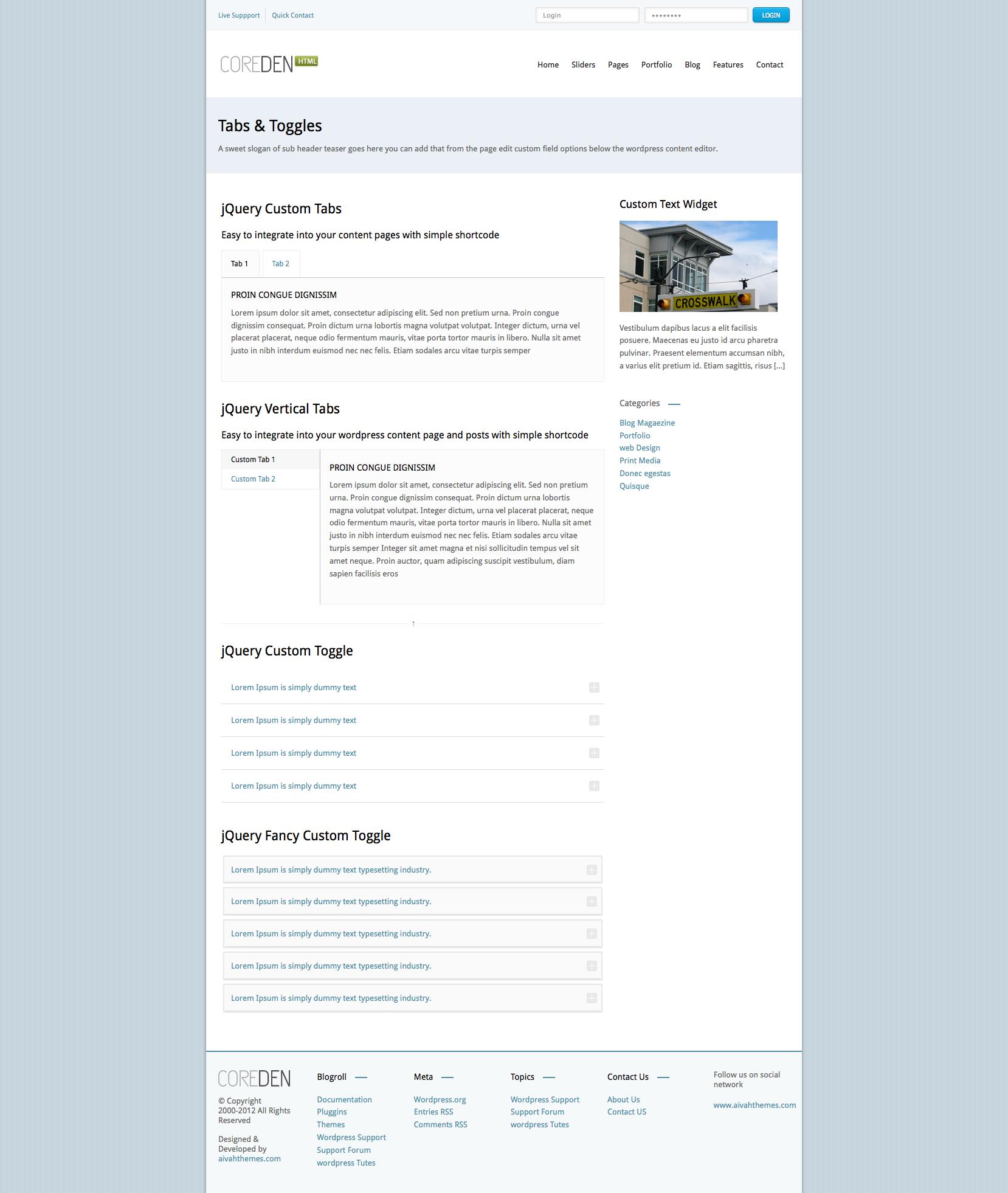 Coreden - Responsive HTML