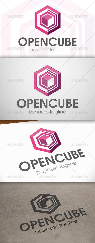 GraphicRiver Open Cube Logo 6788504
