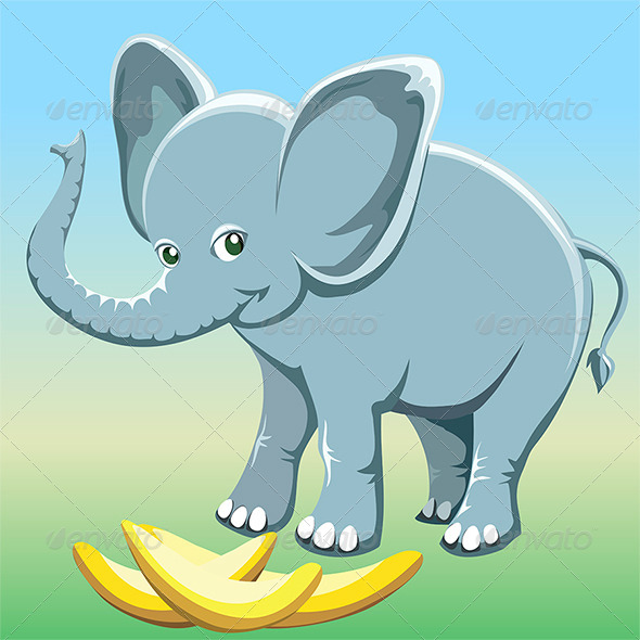 GraphicRiver The baby elephant 6788527