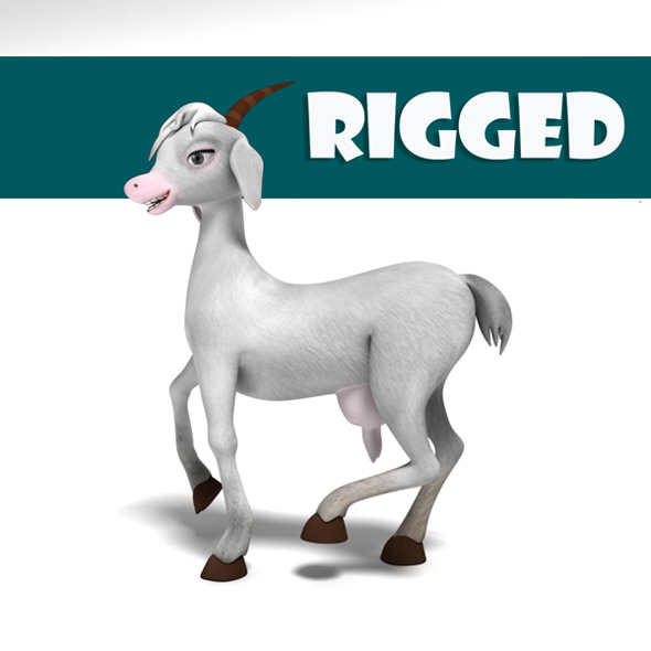 3DOcean Rigged Princess Goat 6788586