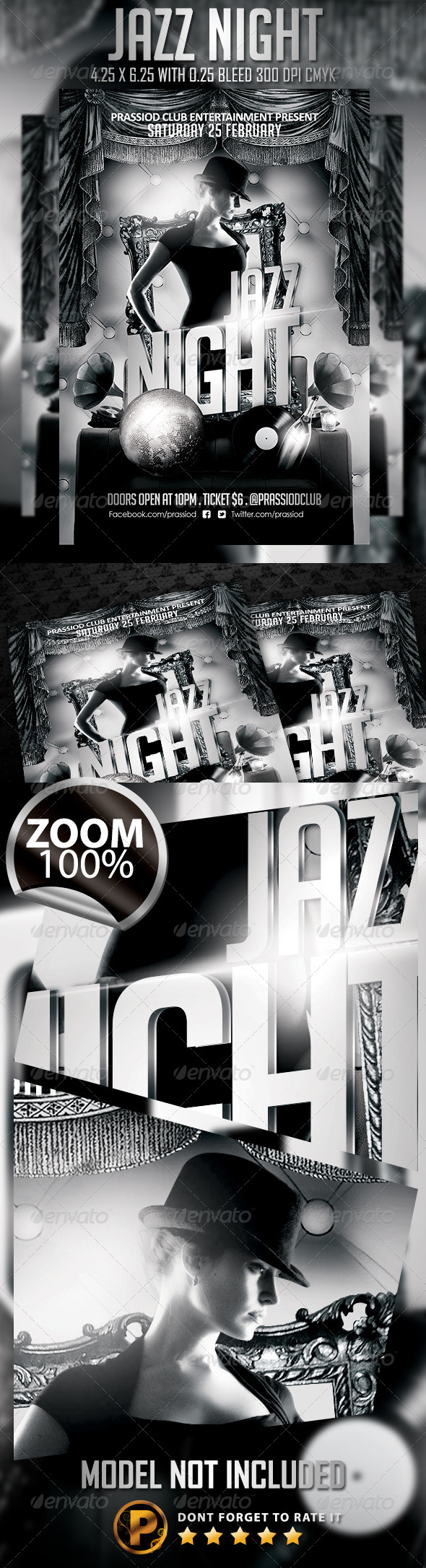 GraphicRiver Jazz Night Flyer Template 6788671