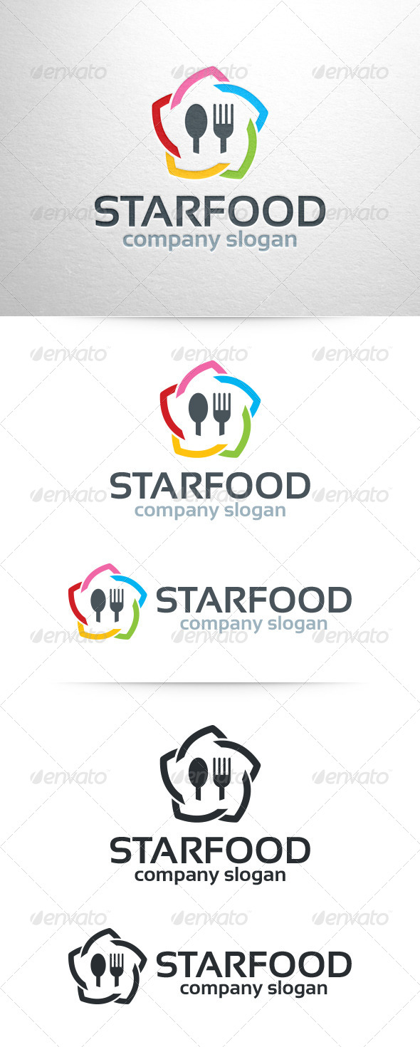 Star Food Logo Template