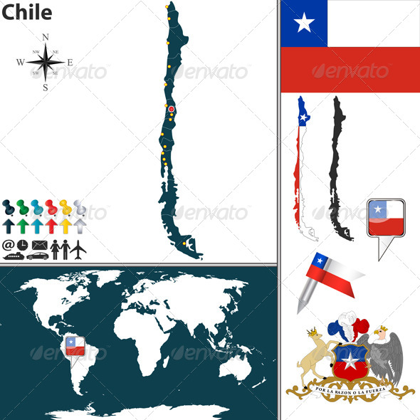 GraphicRiver Map of Chile 6789057