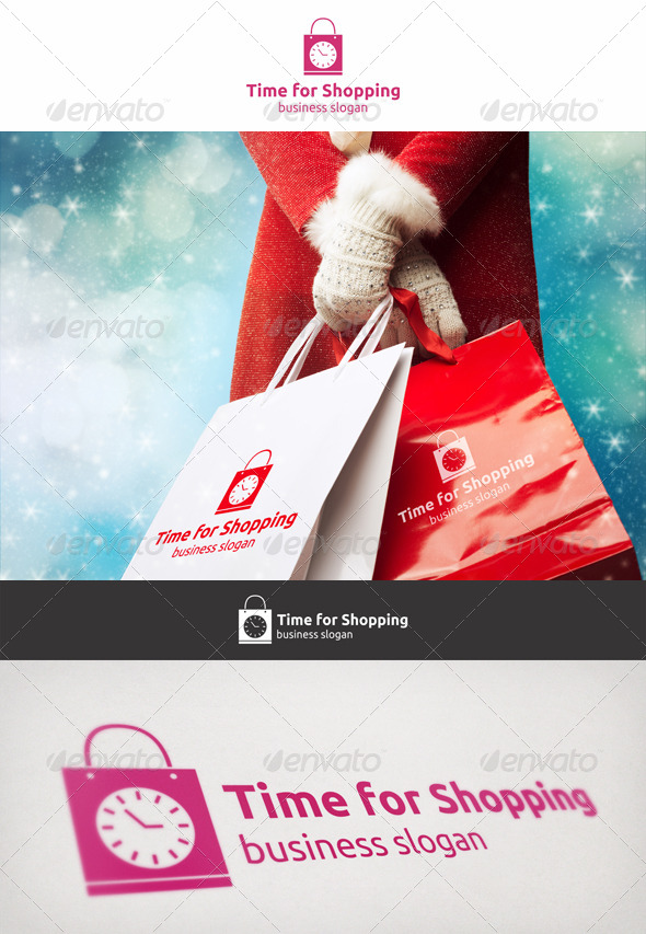 GraphicRiver Time For Shopping Logo 6789079