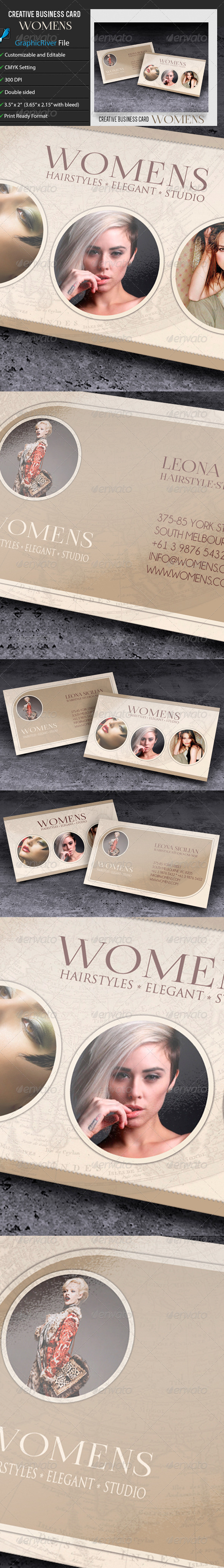 GraphicRiver Creative Business Card Womens 6789259
