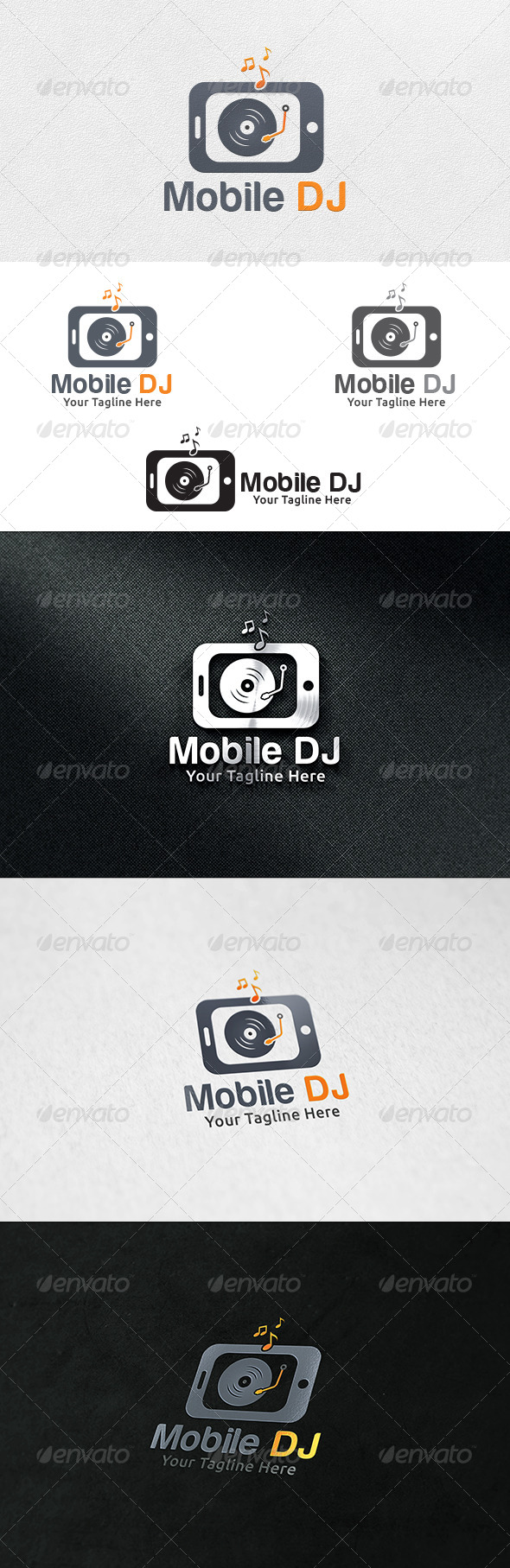 GraphicRiver Mobile DJ Logo Template 6789410